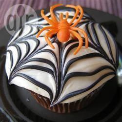 Muffins toiles d'araignées