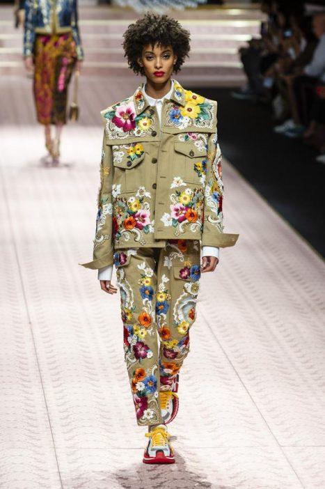 Tendance mode imprimé fleuri Dolce & Gabbana