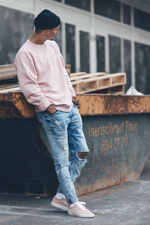 Mode masculine : tendance AH 2019-2020 coloris rose