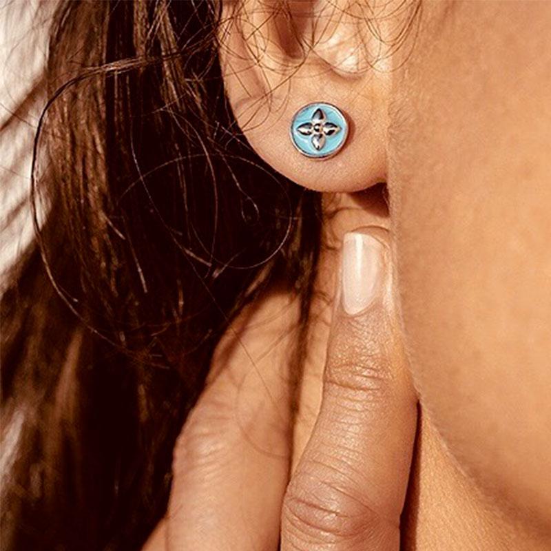 Notre coup de coeur, les puces d'oreilles Croisette de chez Caribol