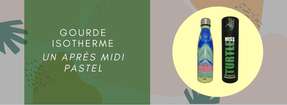 Gourde Isotherme -  Miss Turtle collection un après midi pastel