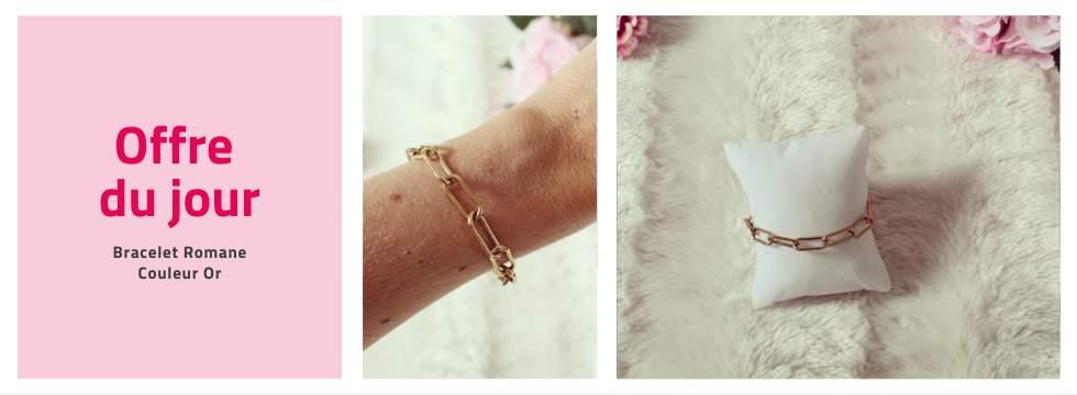 Bracelet Romane couleur or