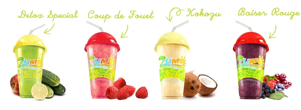 Déguster les smoothies Zumo sans compter !