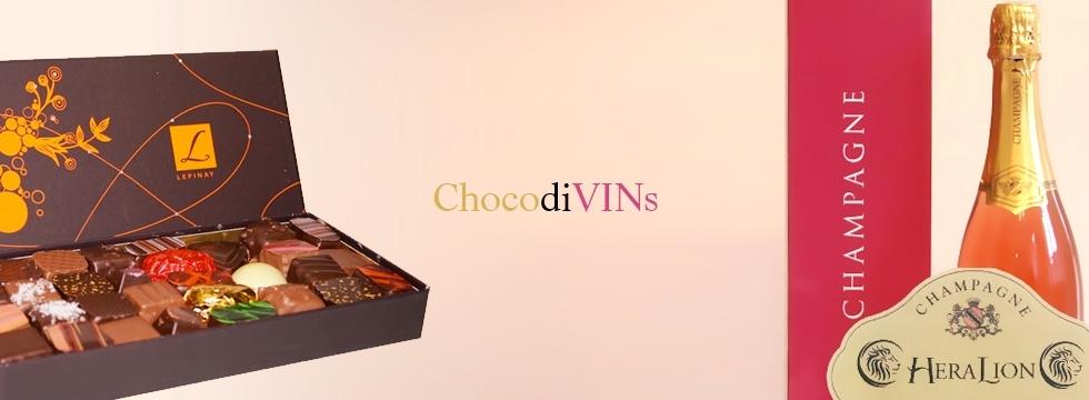 Découvrez les chocolats et la sélection de Champagne de ChocodiVINs !