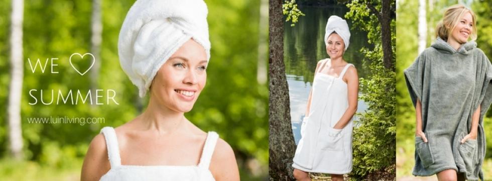 Coffret Luin Living, bougie et serviette