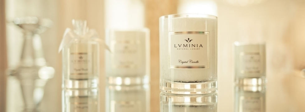 Luminia, bougie cristal et parfums d'exception