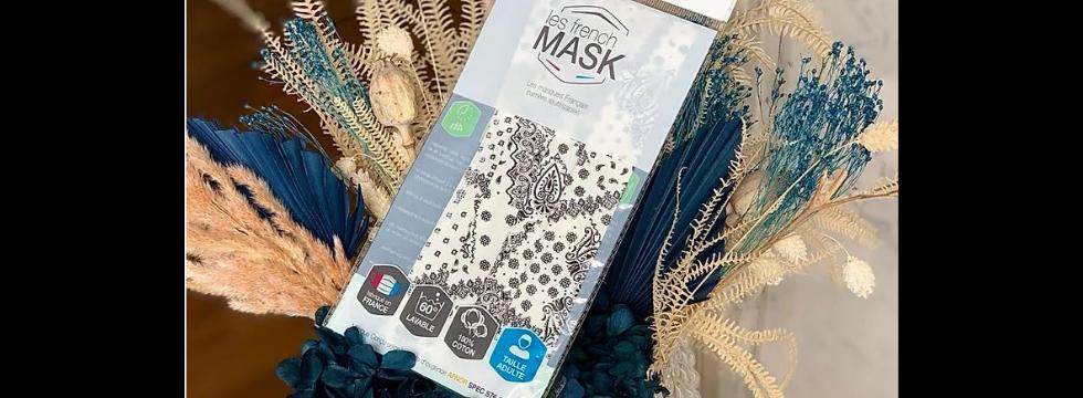 Masque Tissu Bandana Blanc -