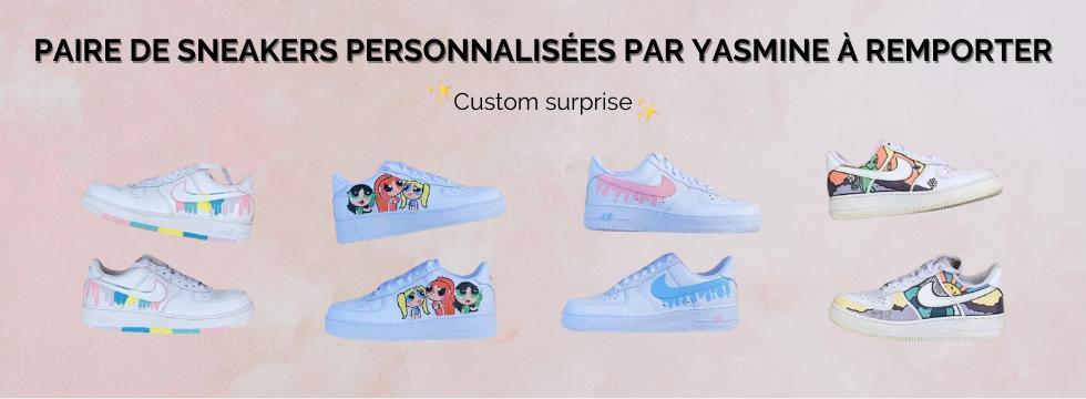 Paire de sneakers customisées par Yasmine