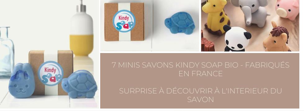7 minis savons bio et français avec une surprise  à l'intérieur