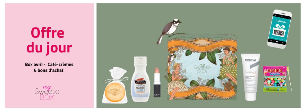 Box beauté Avril + 6 Bons cadeaux -  My Sweetie Box