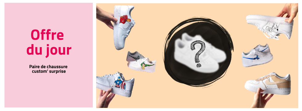 Paire de sneakers custom' surprise