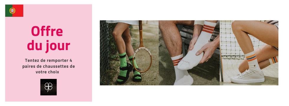 Tentez de remporter 4 Paires de chaussettes Erwans de votre choix