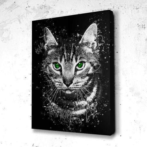 Tableau Chat Graff Art B&W - Huge By design