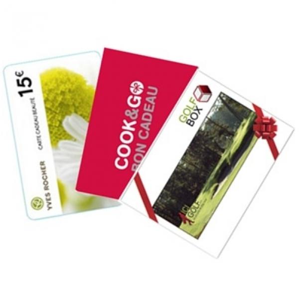 MA CARTE CADEAU vous offre une sélection de 3 cartes cadeaux