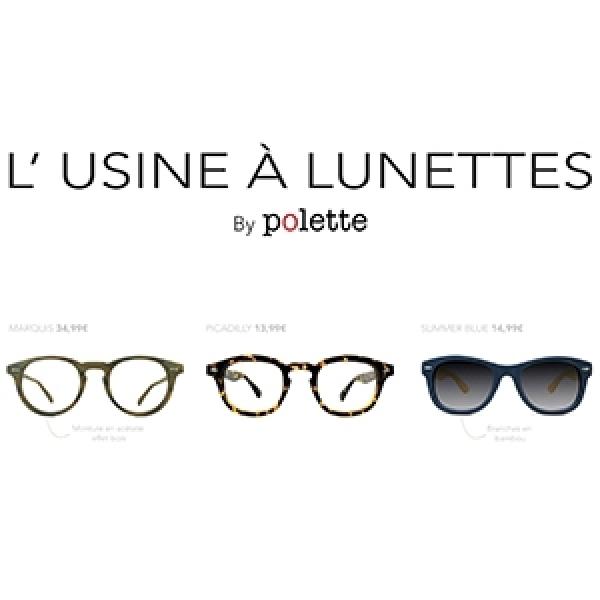 Montures de designer et verres à la vue dès 6.99 € avec L'usine à lunettes !
