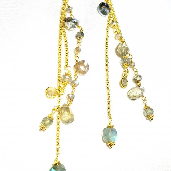 Boucles d'oreilles argent 925/or - 18 carats