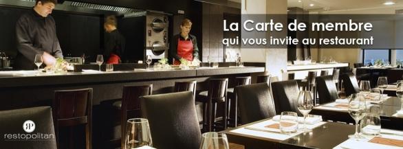 Restopolitan, la Carte qui vous invite au restaurant