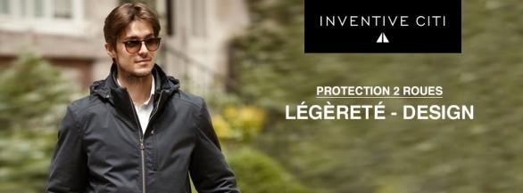 Veste Inventive Citi : Protection 2 roues - Légèreté - Design