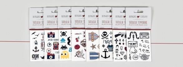 Furieusement tendance les 3 lots de 8 planches tattoos.