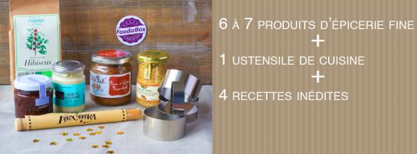 FoodizBox - Des surprises gastronomiques tous les mois et des recettes inédites réalisées par Noëmie (TopChef) et Bernard (blogueur)