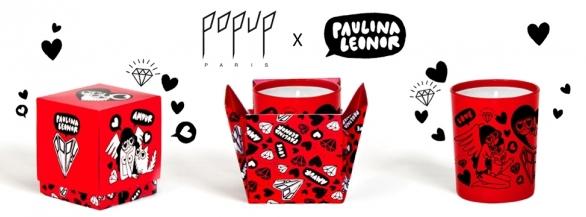 Tentez de remporter la bougie des amoureux -  Popup Paris x Paulina Léonor