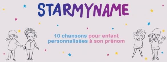 Starmyname, le premier Coffret Cd de 10 chansons pour enfant personnalisées à son prénom