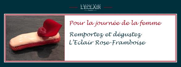 Journée de la femme : Découvrez l'éclair Rose-Framboise de l'Atelier de l'Éclair