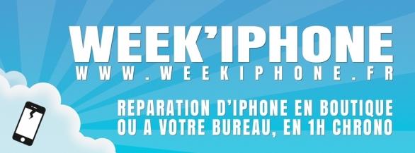 WEEK'IPHONE vous offre 3 réparations d'écran pour votre iPhone 3G / 3GS / 4 ou 4S