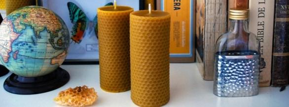 Apis Cera |Bougies en cire d'abeille 100% naturelle