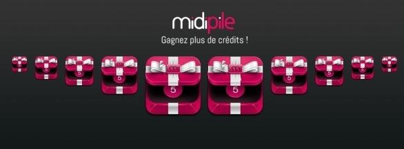 Doublez vos chances de gagner et de remporter le produit de vos rêves  : 50 crédits Midipile offerts !