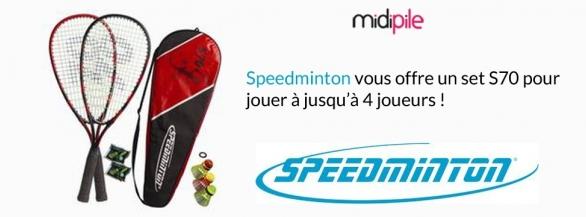 Découvrez le Speedminton en remportant un set de jeu S70 pour jouer jusqu'à 4 joueurs !