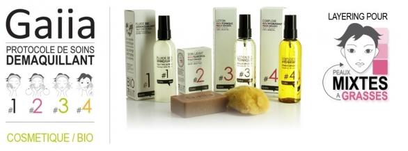Un protocole de soins démaquillants Gaiia offert pour votre type de peau !