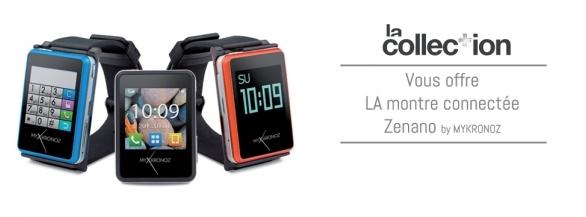 La-Collection.com vous présente ZeNano : la montre connectée !