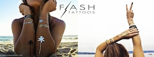 Lili Shopping, bijoux et fantaisies de luxe présente Flash Tattoos !