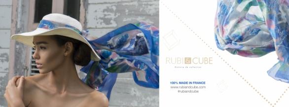 Une oeuvre d'art en foulard, c'est ce que vous propose Rubi & Cube!