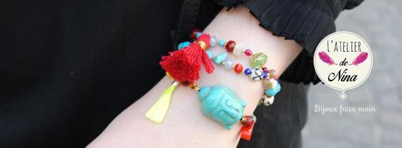 Chic et bohème : les bijoux faits à la main de l'Atelier de Nina !