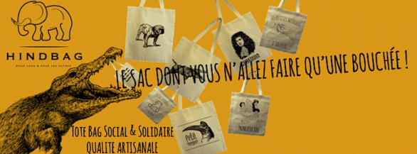 Hindbag , le tote bag solidaire