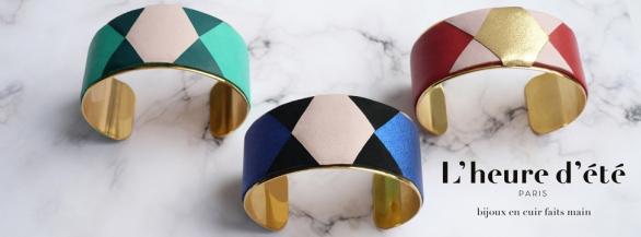 L'heure d'été :  création de bijoux en cuir faits main à Paris